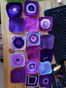 crochet blanket sunburst granny squares